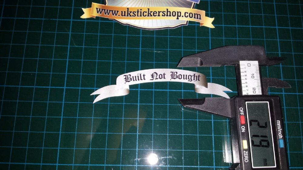 Built Not Bought Small Scroll Sticker Decal Car Motorcycle